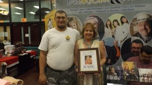 Bev McCann With One Of SOGR Radio's Owners Brandon Bearden