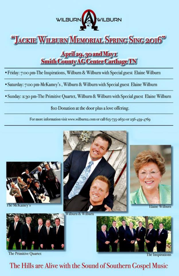 2016 Jackie Wilburn Memorial Spring Sing Around The Corner